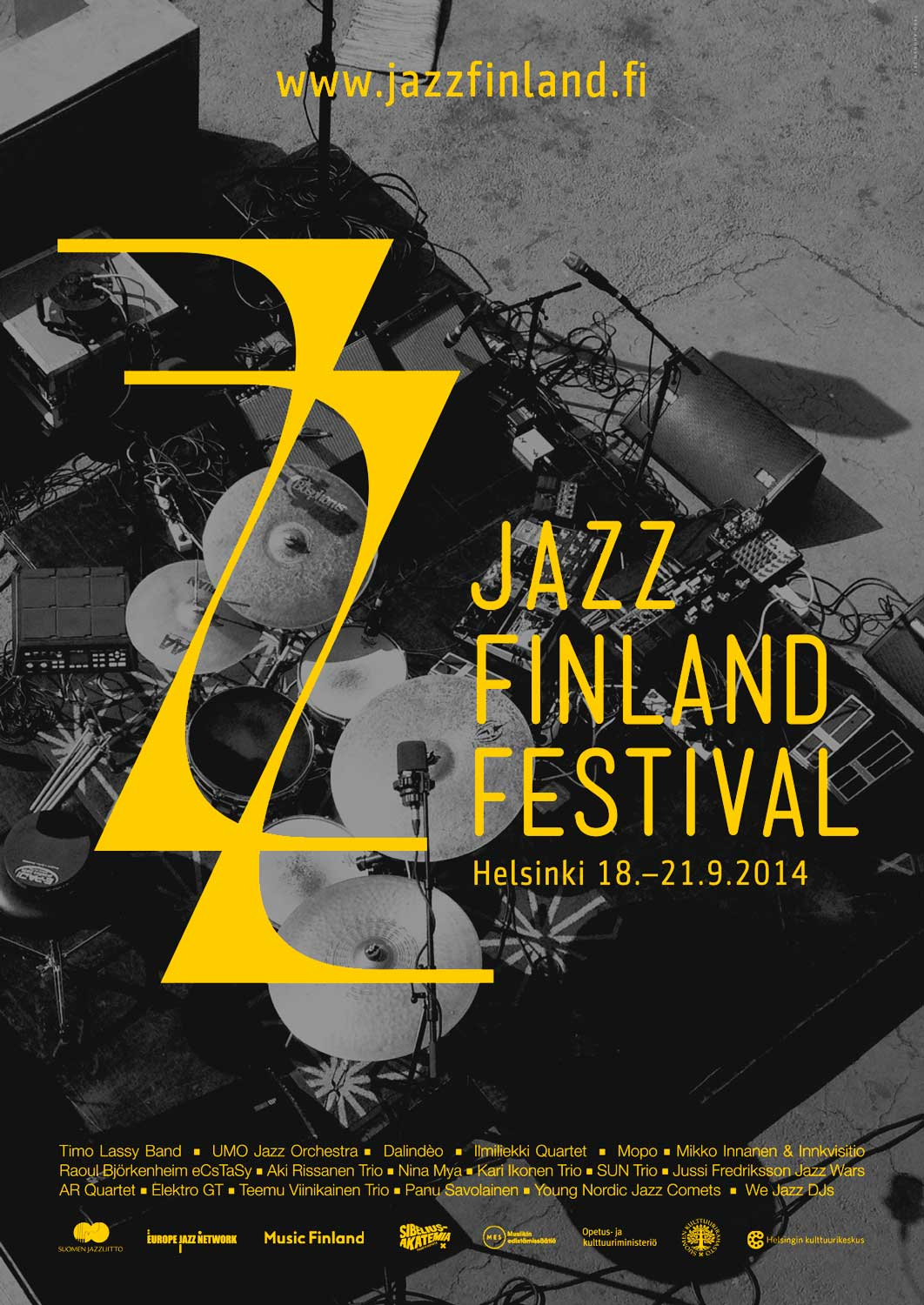 Jazz Finland Festival, poster by Tero Ahonen